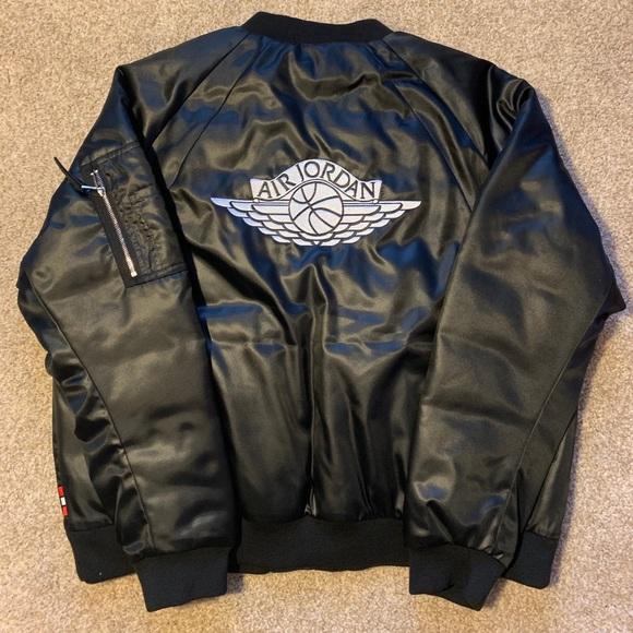 2259e857e29 Jordan Jackets & Coats | Nike Air Wings Bomber Jacket Black Xl ...